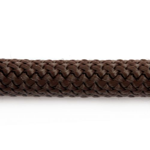 X-Brown Round Knitted Super Strong Woven Cord 10mm Pre Cut 40cm