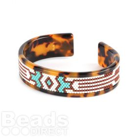 Beads Direct Pocahontas Toho Aiko Tortoise Slim Cuff Kit