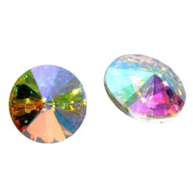Bonny™ / crystal glass / rivoli / 18mm / AB / 4pcs