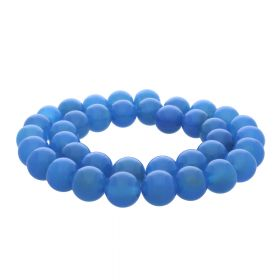 Chalcedony / round / 6mm / blue / 64pcs