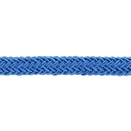 X-Royal Blue Polyester Braided Chunky Cord 8x10mm 1 Metre