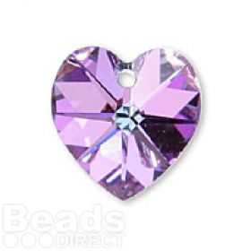 6228 Swarovski Crystal Hearts 10mm Vitrail Light F Pk2