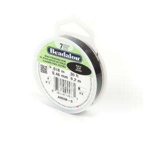 Beadalon 7 Strand Flexible Wire 'Black' 0.018in 30ft Spool