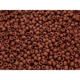 TOHO™ / Round 11/0 / Opaque Frosted / Terra Cotta / 10g / ~ 1100pcs