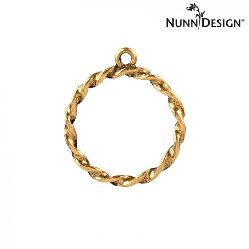 Nunn Design Antique Gold Charm Rope Circle 23mm Pk1