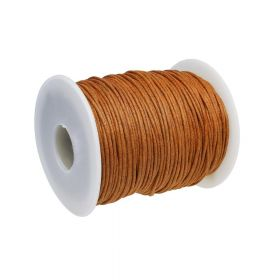 Waxed cord / 1.5mm / brown / 72m
