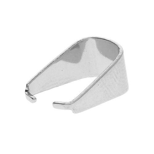 Pinch bail / surgical steel / 10x5x8mm / silver / 10pcs