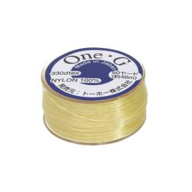 One-G ™ / nylon thread for beads / Lt. Yellow / 0.35mm thick / 46m