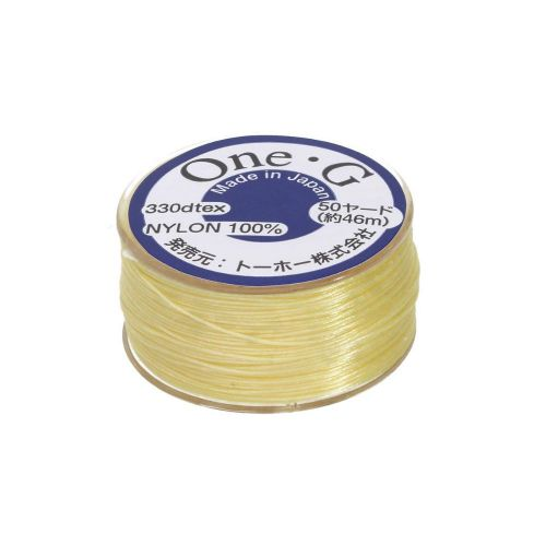 One-G ™ / nylon thread for beads / Lt. Yellow / 0.2mm thick / 46m