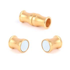 Gold Plated Magnetic Clasp 8x11mm for 6mm Cord Pk1
