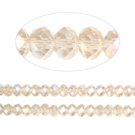 Essential Crystal Faceted 4mm Rondelle Champagne AB 150pack