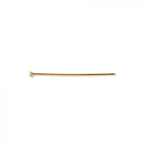 Headpins gold-plated 0.8x32mm.