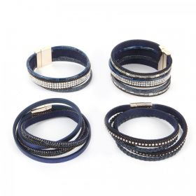 Navy California Multi Cord Take a Make Bracelet Kit - Makes x4