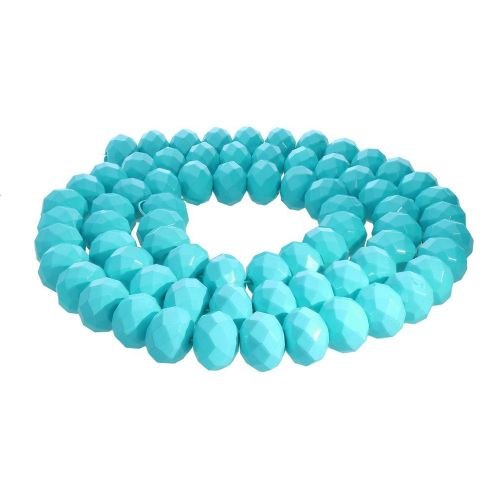 Milly™ / rondelle / 8x10mm / turquoise / 70pcs