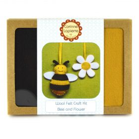 Corinne Lapierre Mini Bee & Flower Felt Craft Kit