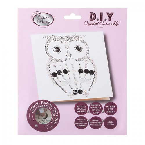X-Beads Direct Oscar Owl Crystal Card Kit