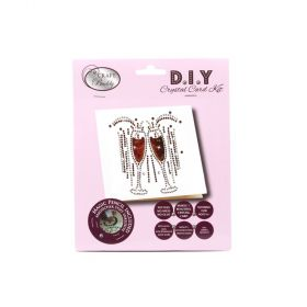 Beads Direct Champagne Glass Crystal Card Kit