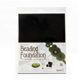 "Beadsmith Black Sturdy Soutache Beading Foundation 8.5""x11"" Pk4"