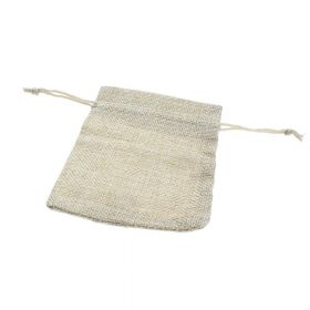 Linen bag / 9.5x11.5cm / light cream / 5pcs