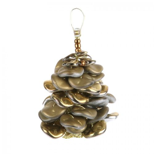 """X"" Golden Pinecone Christmas Decoration Kit - Makes x3"