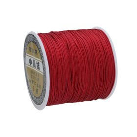 Macramé™ / Macramé cord / nylon / 0.8mm / dark red / 100m