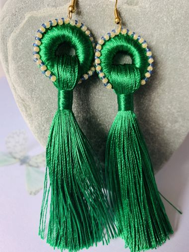 tassel earrings - jewellery making tutorial