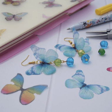 How to make organza butterfly earrings - Beginners video tutorial