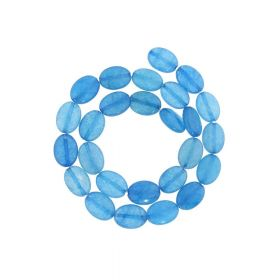 Agate / faceted oval / 14x10mm / light blue / 26pcs