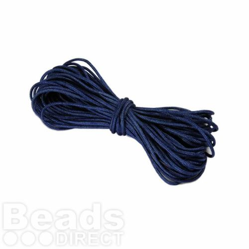 Waxed Nylon Cord 1.5mm x 9m Navy Blue