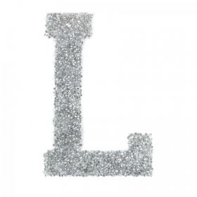 Swarovski Crystal Letter 'L' Self-Adhesive Fabric-It Transparent CAL Pk1
