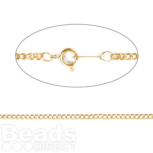 Gold Plated Curb Chain with Clasp 2x3mm 17inches