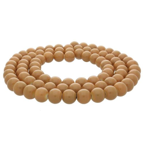 Coated beads / round / 6mm / copper / 130pcs