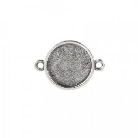 Nunn Design Antique Silver Small Connector Round Bezel 15mm Pk1