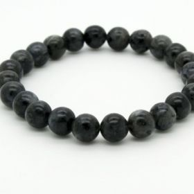 Black Jasper Semi Precious 8mm Ready Made Bracelet Pk1