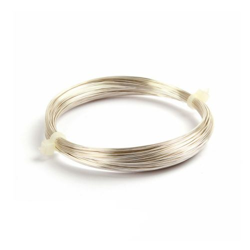 X Silver Plated Copper Wire 0.4mm 20metre Coil Non Tarnish