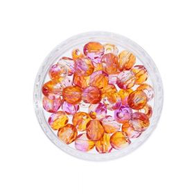 Firepolish ™ / 4mm / Dual Coat / Fuchsia Cantaloupe / 40 pcs
