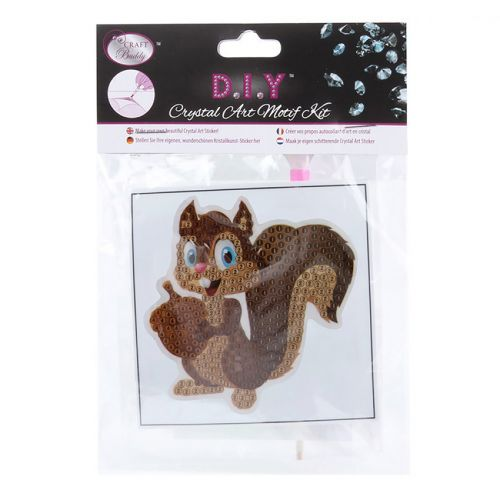 Craft Buddy Crystal Motif Kit 'Smiling Squirrel' with Tool
