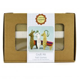 Corinne Lapierre Felt Llamas Craft Kits - Makes x3 Llamas