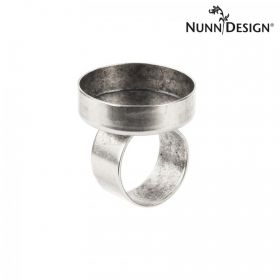 Nunn Design Antique Silver Ring Bezel Round Setting 25mm Pk1 - Adjustable