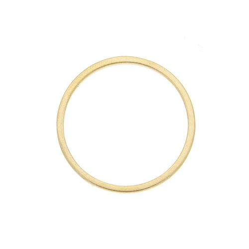 Circle / geometric base / surgical steel / 18mm / gold / 1pcs