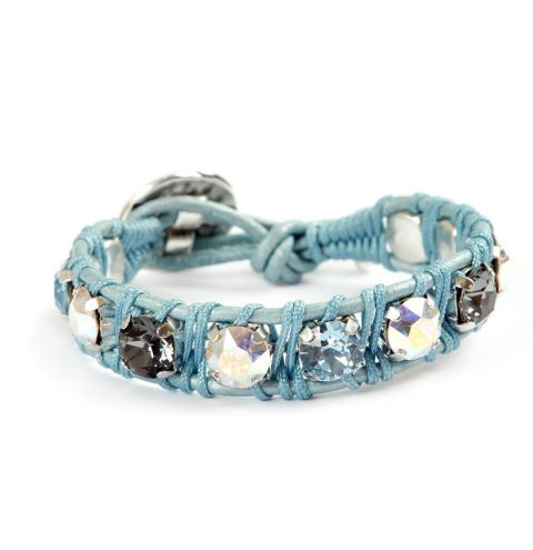 Blue Leather Wrap Enchanted Jewels