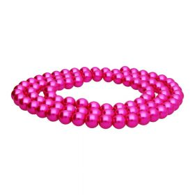 SeaStar™ / glass pearls / round / 10mm / neon pink / 90pcs