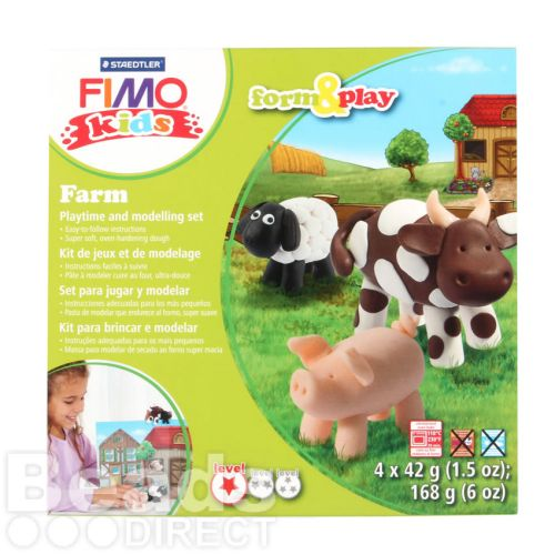 X-Staedtler Fimo Kids Farm Set Form and Play 4x42g(5.9oz)