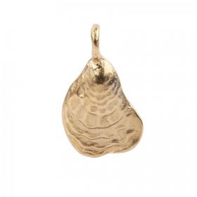 Matte Gold Plated Shell Charm 14x23mm Pk1