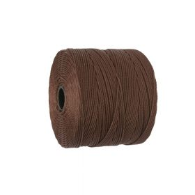 BEADSMITH ™ / thread SuperLon Fine / nylon / Tex 135 / Chestnut / 0.5mm / 108m