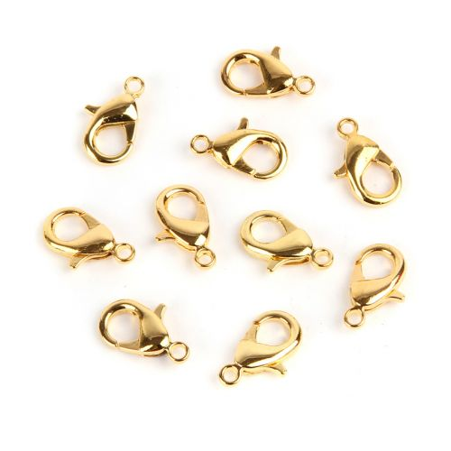 Gold Plated Lobster Claw Clasp 15mm Pk10