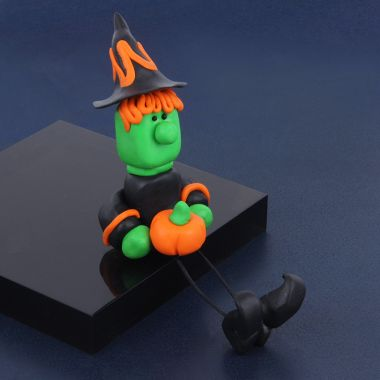 FIMO Halloween Witch Decoration