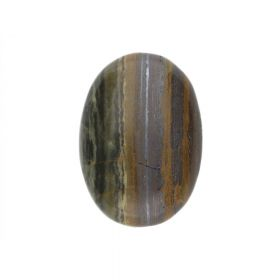 Tiger's Eye / cabochon / oval / orange & brown / 18x25x6mm/ 1pcs
