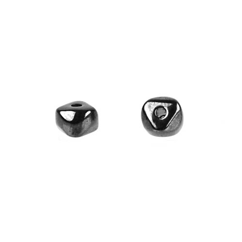 Gunmetal Plated Small Nugget Beads 4x6mm Pk10