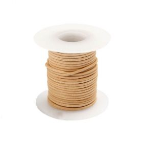 Natural Round Leather Cord 1mm 5Metre Reel
